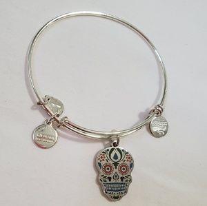 Alex and Ani sugar skull bracelet